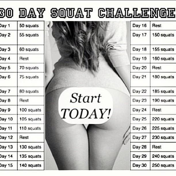 ve also been doing the squat challenge! I'll try to insert a picture ...